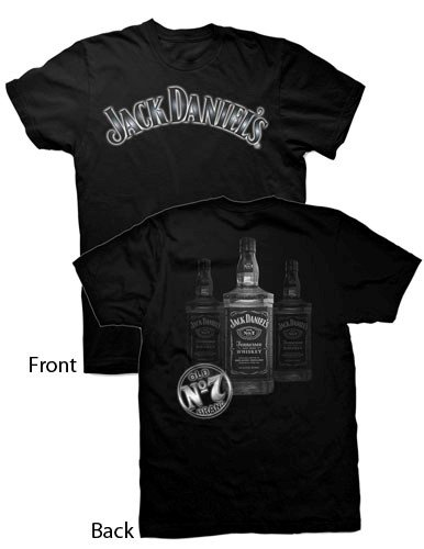 Jack Daniel's Three Bottles Mens TShirt, XXLarge (Jack Xxl)
