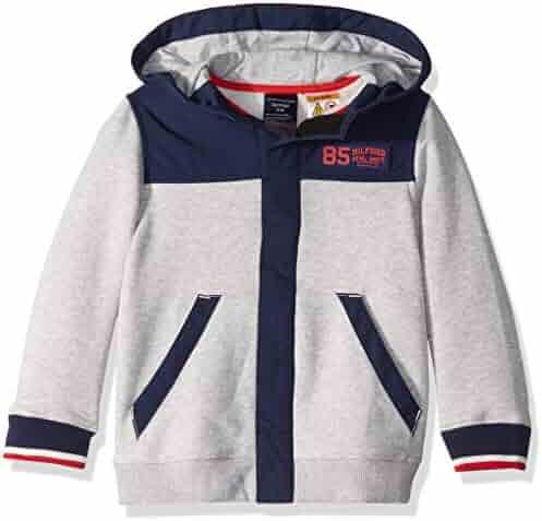 f4072b7d94bbe2 Tommy Hilfiger Boys  Adaptive Hoodie Sweatshirt with Hidden Magnetic Closure