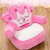 TOYSOFA Bean Bag seat, Plush Stuffed Animals Kid Sofa Chair Upholstered Mini princcess Children armrest Couch with Washable Cover for Ages 2-4-pink 455035cm(182014in)