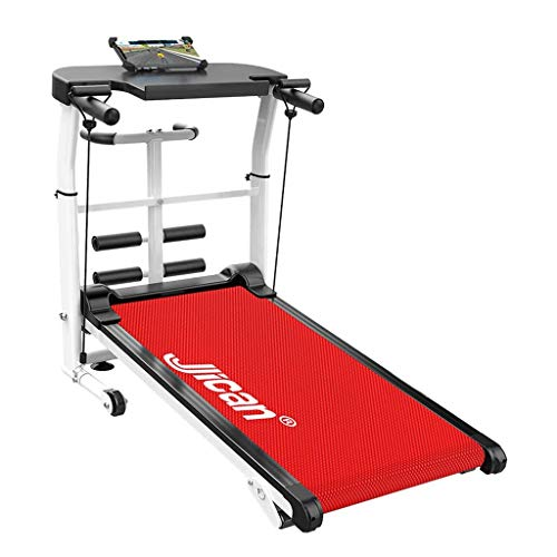 LW Treadmills Mechanical Multi-Function Household Collapsible Mute Small Fitness Equipment,Red