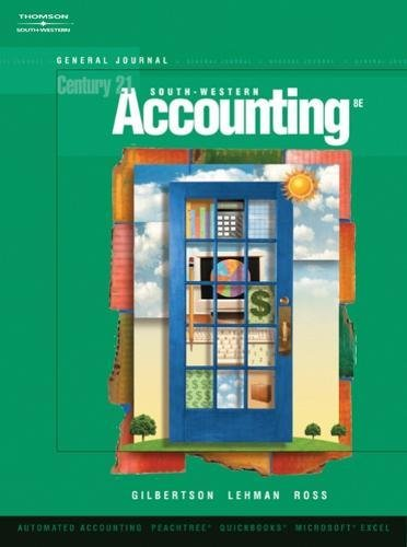 General Journal, Century 21 Accounting, 8th Edition