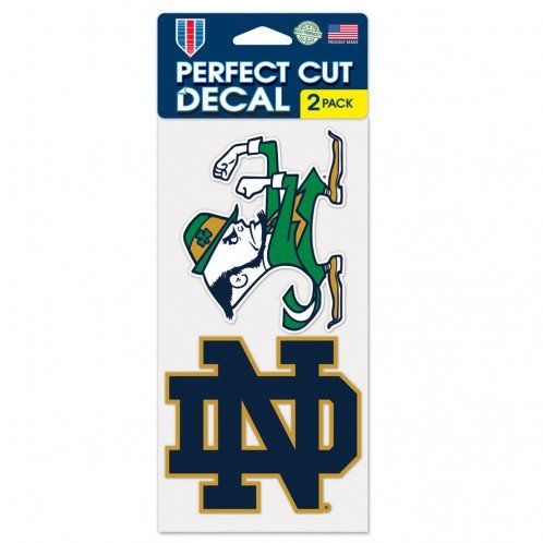 Notre Dame Fighting Irish Set of 2 Die Cut ()