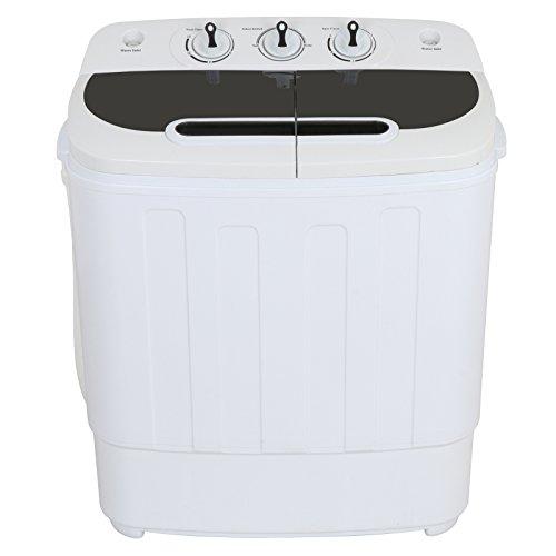 Zeny Portable Compact Mini Twin Tub Washing Machine 13lbs