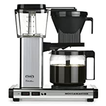 Moccamaster KBG 741 10-Cup Coffee Brewer with Glass Carafe, Polished Silver