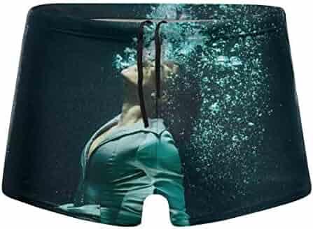 G66TCX Mens Swim Trunks Board Shorts Square Leg Beach Board Short Bathing Swimsuit Swim Underwear