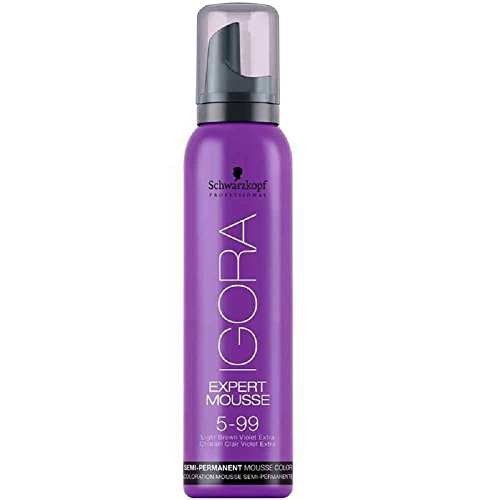 Schwarzkopf Professional Igora Expert Mousse, 5-99, Light Brown Violet Extra, 3.2 Ounce
