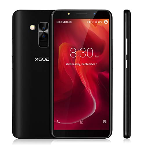 Xgody 6 Inch Android 8.1 Cellphone Unlocked ROM 16GB+ RAM 1GB Telefonos Desbloqueados HD Screen Dual Camera Support 2G/3G Network for T-Mobile/AT&T