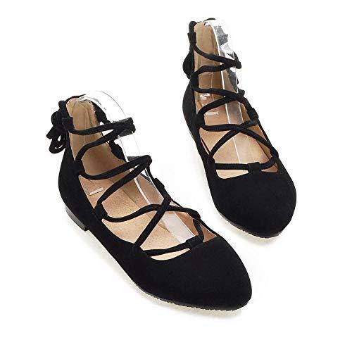 Femme 5 Sandales EU 36 SDC05808 AdeeSu Noir Compensées Noir twpWZq6