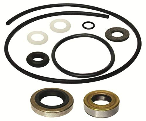 GLM Lower Unit Gearcase Seal Kit for Johnson Evinrude 25 28 30 33 35 40 Hp Replaces 18-2686 See Product Description for Exact Application - 40 Evinrude Hp