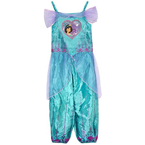 Disney Girls Aladdin Dress Up Costume with Bag Princess Jasmine Size 6 Blue]()