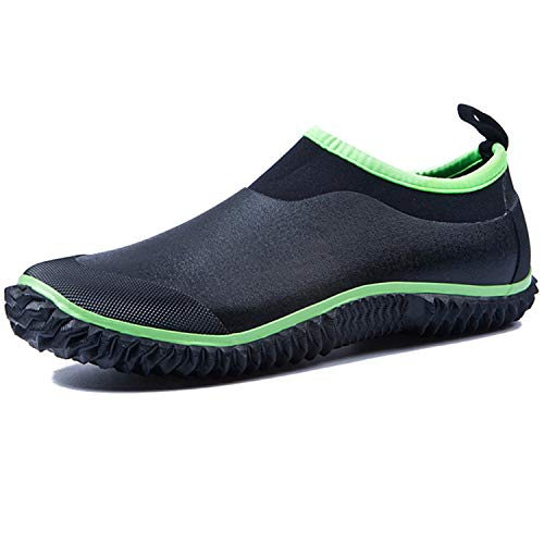 da Short Ankle Nero per Donna Shoes Outdoor JOINFREE Stivali da Pioggia Verde Footwear Uomo Wash Car Low cgwq5xT8R5