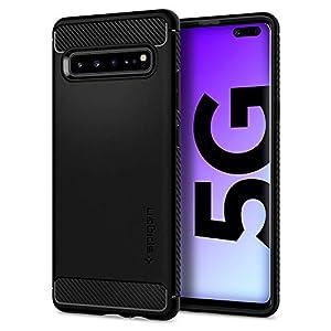 Spigen Rugged Armor Designed for Samsung Galaxy S10 5G Case (2019) – Matte Black