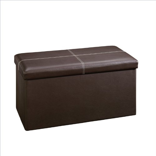 Sauder Beginnings Storage Ottoman, Large, Brown