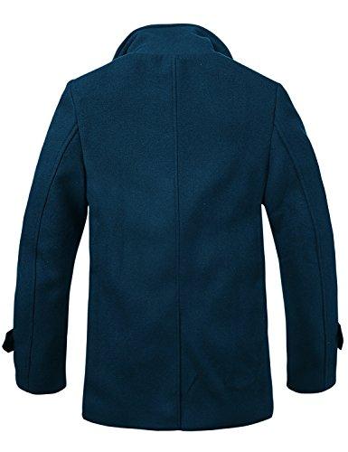 Doble Abrigos Botonadura Match Para De Azul Hombre navy Invierno 010 Lana g6apT