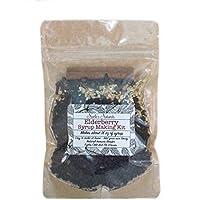 Elderberry Syrup Making Kit - Makes 18oz - DIY Add Your Own Honey - Black Elderberries - Organic Spices - Cloves - Ginger - Cinnamon Stick