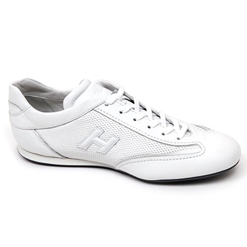 C9908 sneaker uomo HOGAN OLYMPIA SLASH scarpa H 3D bianco shoe man Bianco