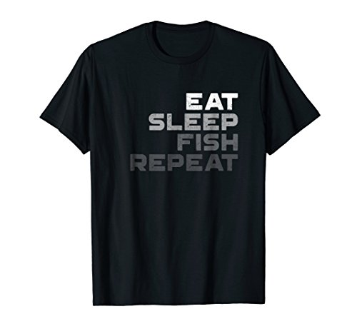 Eat Sleep Fish Repeat Fishing Shirt -Vintage Fishing T - Eat T-shirt Fish