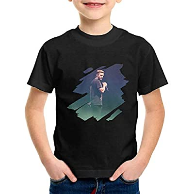 Audry A Aeorge Justin Timberlake 2-6 Years Old Boys & Grils Crewneck Short Sleeve T Shirt Black