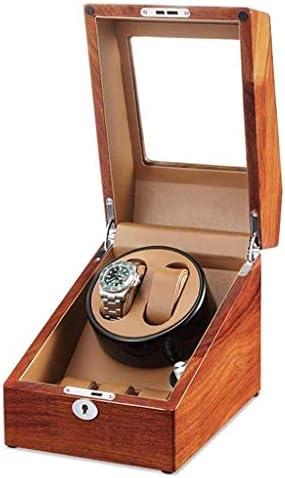Boxsを巻きウォッチワインダーウォッチワインダー、家庭自動超静音2人の+ 3人の回してモーターボックスターンテーブル装置機械式腕時計