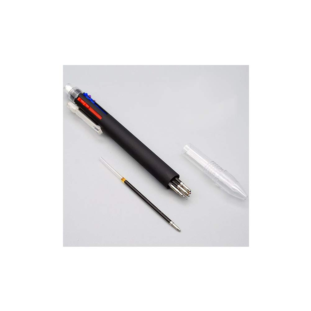 Yisily 5 Multicolor Pen Practical Mechanical Pencil Pen 6-in-1 and Mechanical Pencil Multi Usage Ballpoint Pen and Pencil