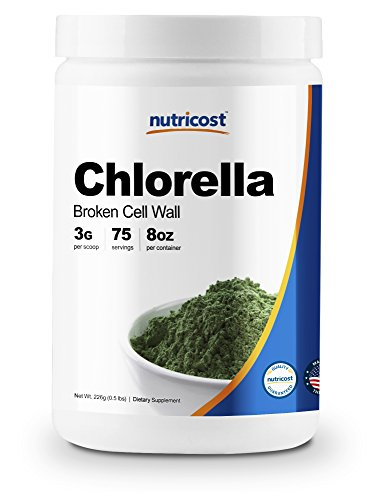 (Nutricost Chlorella Powder 8oz - Pure Chlorella - 3000mg Per Serving - High Quality, Non-GMO, Gluten)