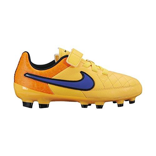 Nike Jr Tiempo Genio Leather (V) Fg - lsr orng/prsn vlt-ttl orng-vlt