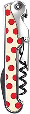 Vin Bouquet FIV 185 - Sacacorchos de 2 Tiempos Vintage Rojo, Sacacorchos Camarero, Descochador, Abrebotellas de 2 tiempos
