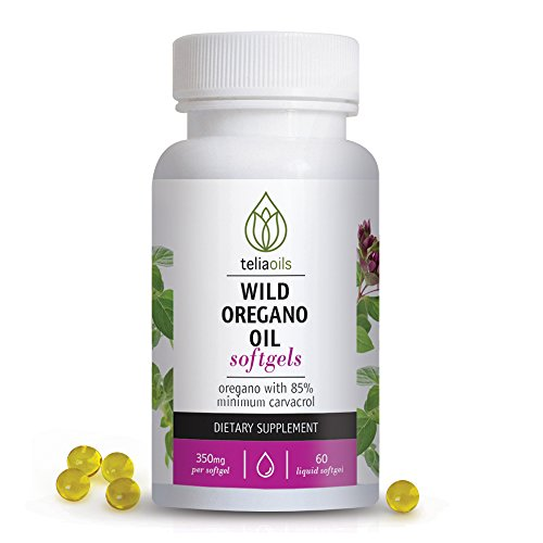 Teliaoils Wild Oregano Oil Softgels Capsules. High Carvacrol, top quality, 60 Softgels