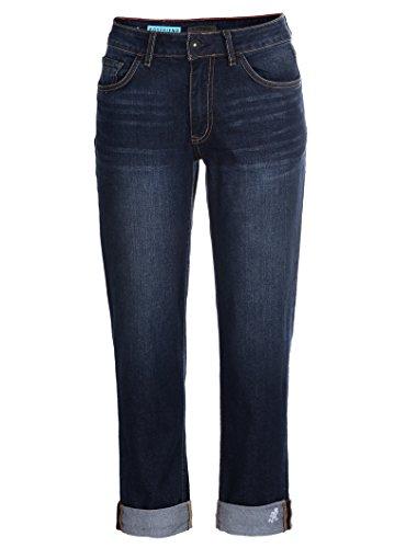 Gramicci Women's Live Free Boyfriend Jean, Patriot Blue Wash, Size 29 x 10 (Gramicci Pants Women)