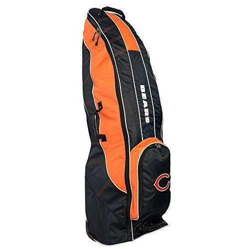 Team Golf NFL Chicago Bears Travel Golf Bag, High-Impact Plastic Wheelbase, Smooth & Quite Transport, Includes Built-in Shoe Bag, Internal Padding, & ID Card Holder ()