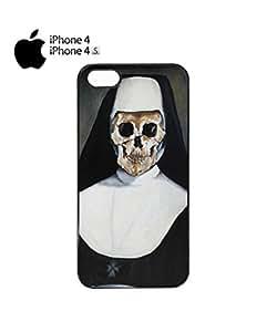Skeleton Bad Nun Religion Sister Mobile Cell Phone Case Cover iPhone 4&4s White