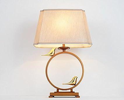 Lámpara de mesa Lámpara de mesa europea Moderno bronce ...