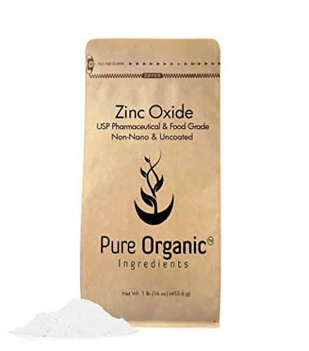 Zinc Oxide 16 OZ Non-Nano Uncoated Powder. Make Your Own Sunscreen, Burn Relief Remedy, Diaper Rash Ointment, Chapped Lips Remedy, Organic, Pharma/Food grade, (Also in 4 oz, 8 oz, 24 oz, 40 oz, 55 lb)