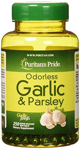 Garlic Parsley 100 Capsules - Puritans Pride Odorless Garlic & Parsley 500 Mg / 100 Mg, 250 Count