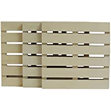Plaid Unfinished 6 x 6-inch Wooden Pallet, 3-Pack