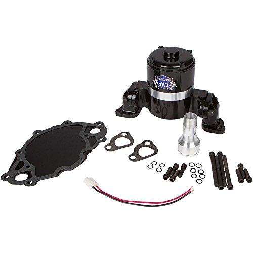Electric Water Pump for Ford Small Block 35 GPM, Black Aluminum, 289, 302, 351W, 5.0L, 5.8L