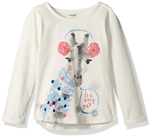 Gymboree Toddler Girls' Giraffe with Earmuffs Graphic Tee, Snow Bunny, (Gymboree Giraffe)