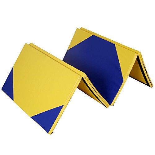4' x 10' x 2'' Hexagonal Splicing Thick Folding Panel Gymnastics Mat by Apontus