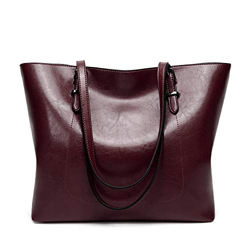 Cawmixy Purses and Handbags for Women Tote Satchel Shoulder Bags Classic Woman Clutches Bags Wine