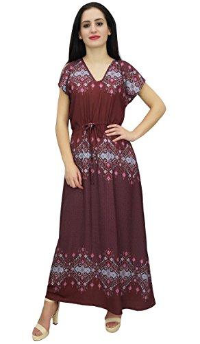 1705645a219 Femmes Bimba De Coulissée Taille Vêtements Bohême D été Robe Longue Maxi  Bordeaux wCCZqU