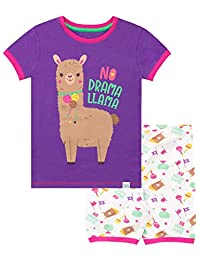 Harry Bear Girls Llama Short Pajamas