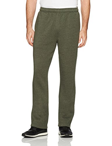 (Amazon Essentials Men's Fleece Sweatpants, Olive Heather, Large)