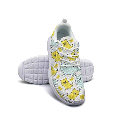 VXCVF Cute Cats Mens Guys White Running Shoes for Mens Wear-Resistant Athletic