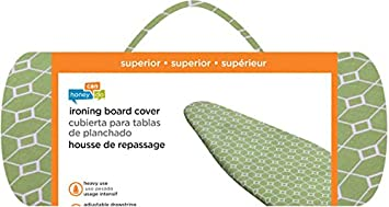 Green Geometric Honey-Can-Do IBC-03038 Superior Ironing Board Cover