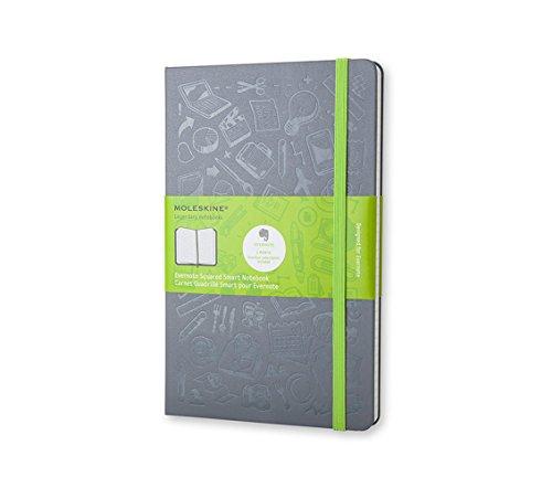 Moleskine Evernote Smart Notebook, Large, Slate Grey, Hard Cover (5 x 8.25)