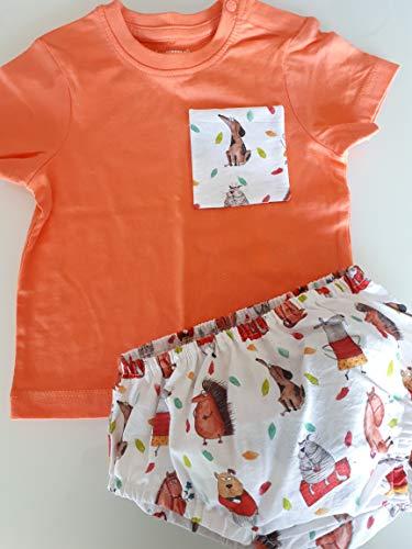 Conjunto cubrepañal ranita bebe estampado ANIMALES tela algodón 100%: Amazon.es: Handmade