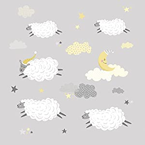 RoomMates Counting Sheep Peel And Stick Wall Decals
