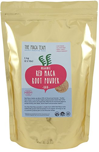 Raw Red Maca Root Powder - Certified Organic, Fair Trade, Gmo-free, Fresh Harvest From Peru, Gluten Free Vegan and Raw, 111 Servings, 2.2 Lb
