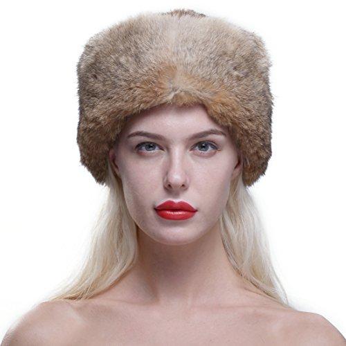 Baby Coon Skin Hat (URSFUR Genuine Rabbit Fur Davy Crockett Hat Coonskin Cap with Raccoon Tail)