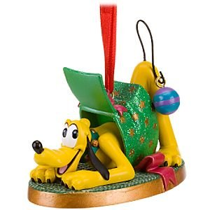 Click for larger image of Disney 2010 Mickey Mouse's Pluto Christmas Ornament NEW